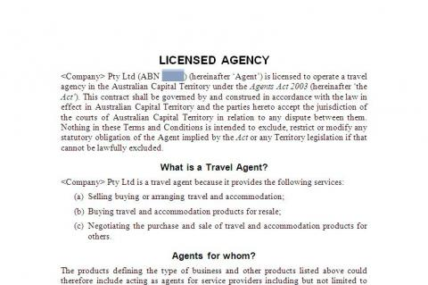 Travel Agent Licence Qld